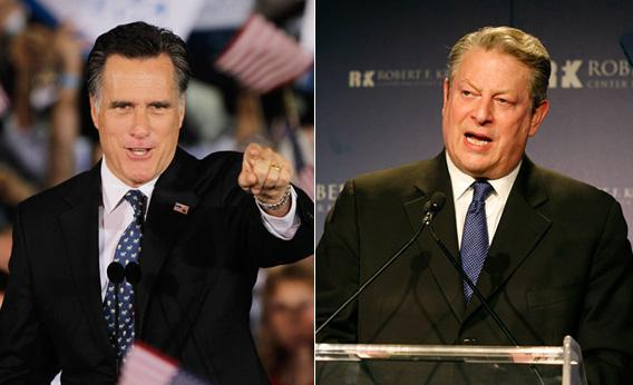 Mitt Romney and Al Gore.