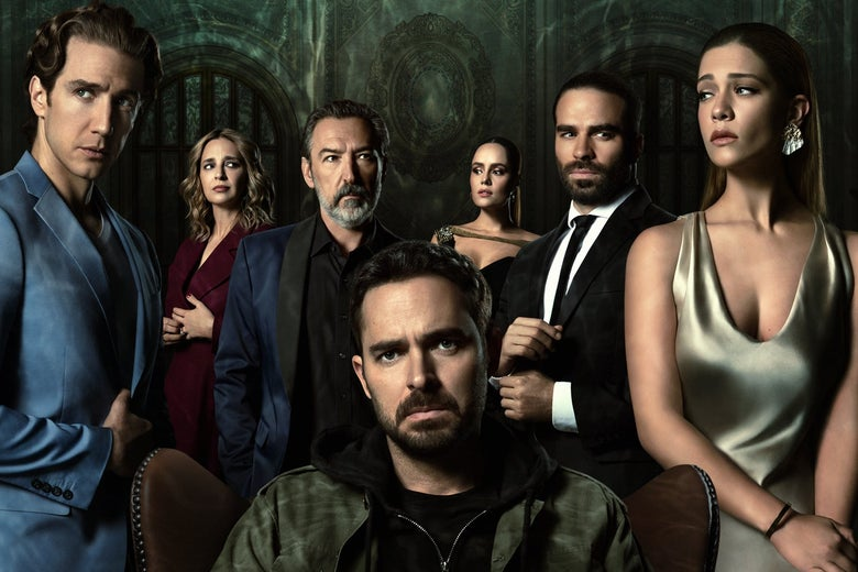 The cast of Who Killed Sara, in a Netflix promotional image.