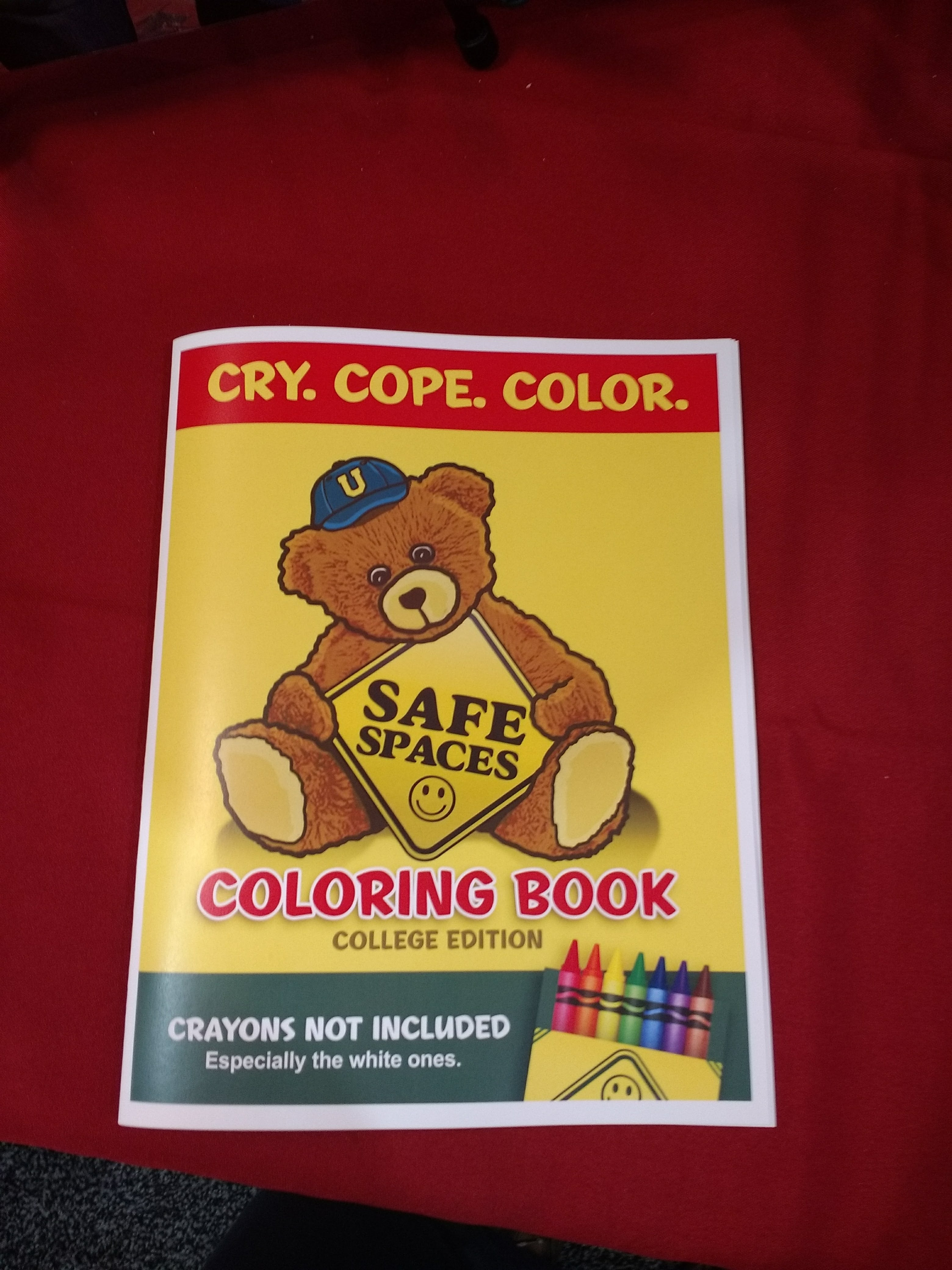 "One of the more popular giveaways this year was a left-mocking ""Safe Spaces"" coloring book promoting a forthcoming documentary called No Safe Spaces."