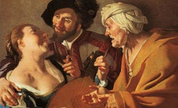 The Procuress painting, 1622