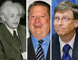 Einstein, Gore, Gates. Click image to expand.