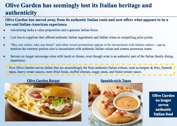 Olive Garden doesn't salt its pasta water: Investors reveal