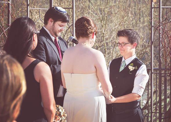 A Jewish lesbian wedding.