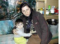 Sister-in-law Roza with Bamatguil Davletukaev
