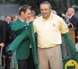 Trevor Immelman (L) and Angel Cabrera of (R). Click image to expand.