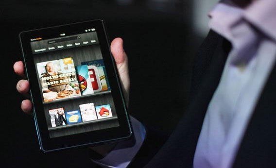 The new Amazon tablet called the Kindle Fire.
