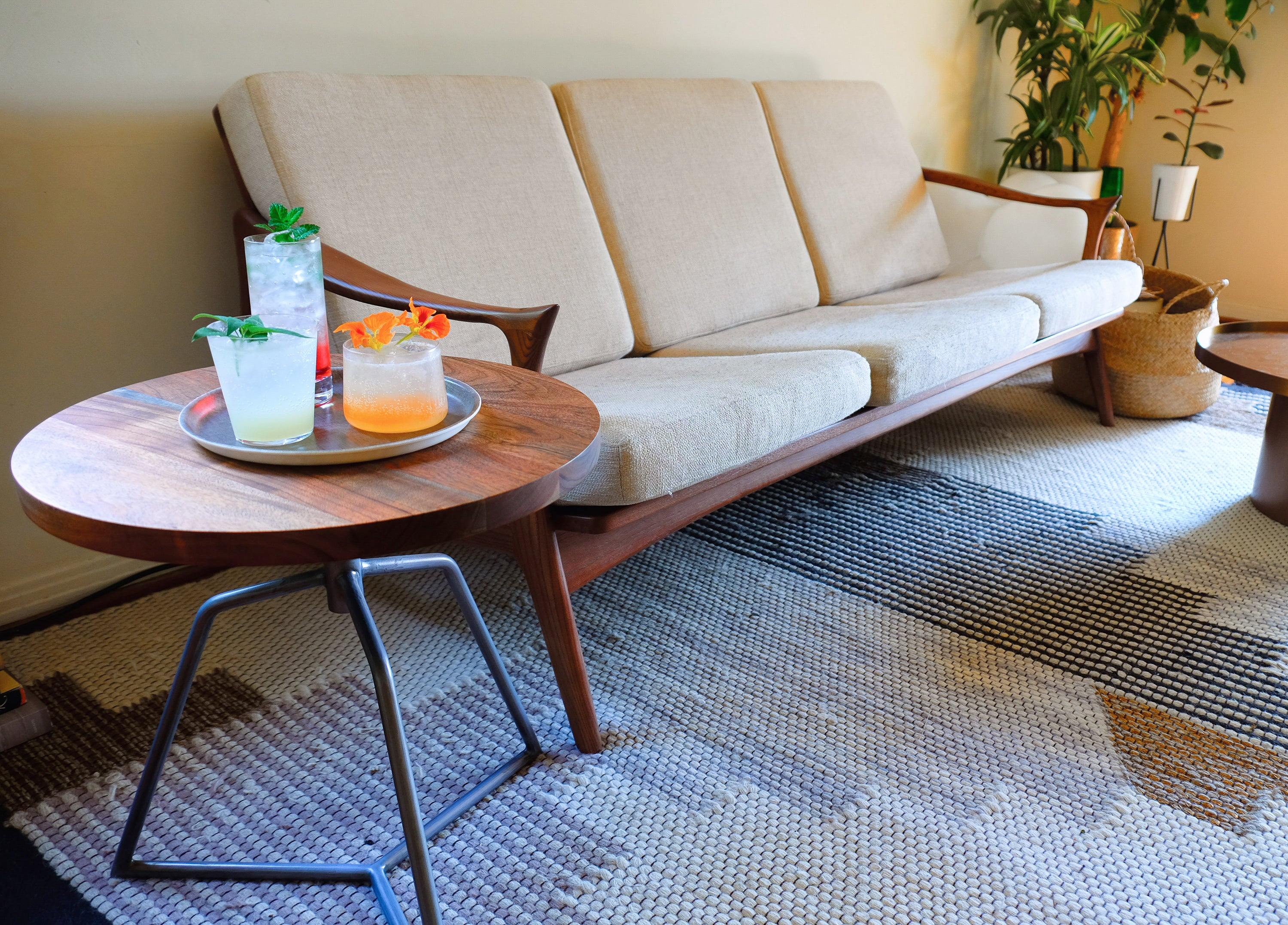 CB2 Dot side table with couch