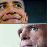 Barack Obama and John McCain. Click image to expand