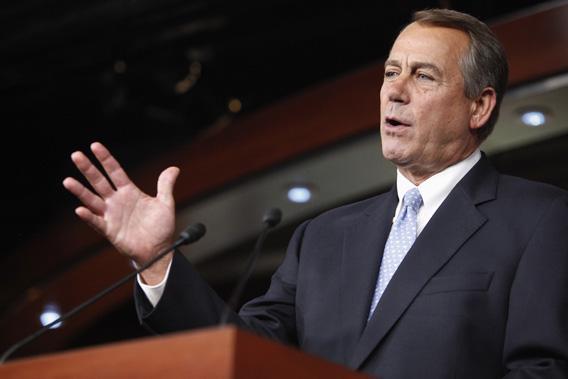 U.S. House Speaker John Boehner speaks during a news conference at the U.S. Capitol in Washington, June 20, 2013.