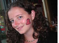 Getting into the spirit of Blob Fest with blob face painting. Click image to expand.
