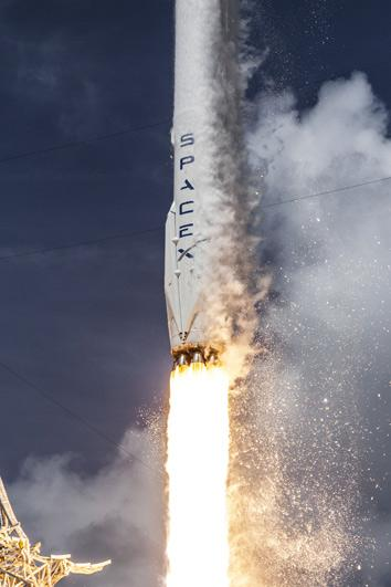 Falcon 9 reuseability: Video of splashdown after successful launch.