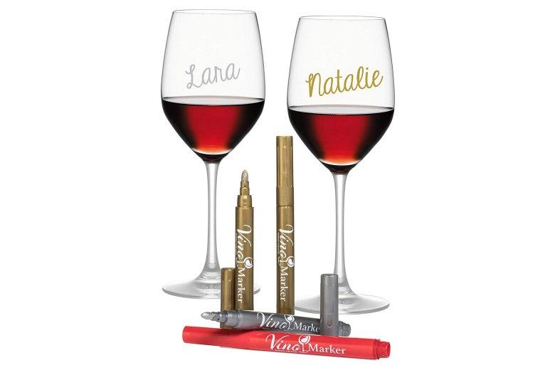Vino Marker metallic pens.