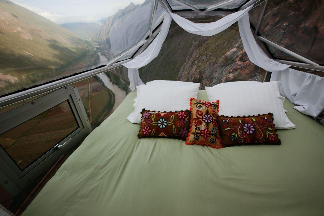 Skylodge Adventure Suites Are Sleeping Pods Attached To A Mountain Overlooking The Sacred Valley In Cusco Peru