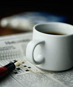 Coffee and crossword.