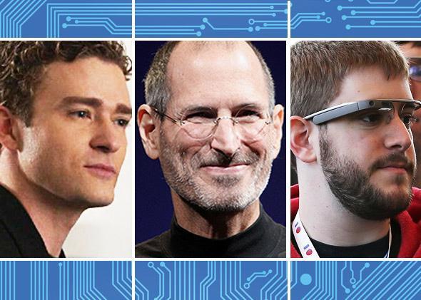 Justin Timberlake (as Sean Parker), Steve Jobs, Google I/O developer conference attendee