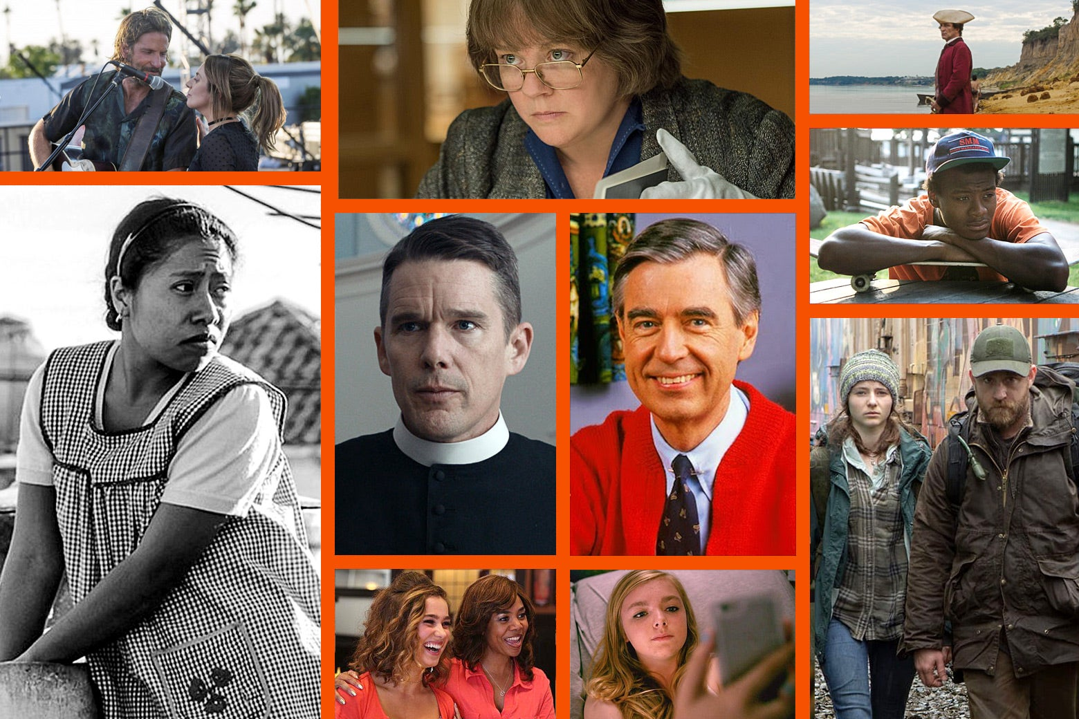 Collage of movie scenes
