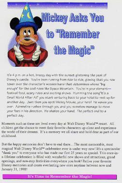 The fake Mickey Mouse ad used by Loftus, 2002. Click image to expand.