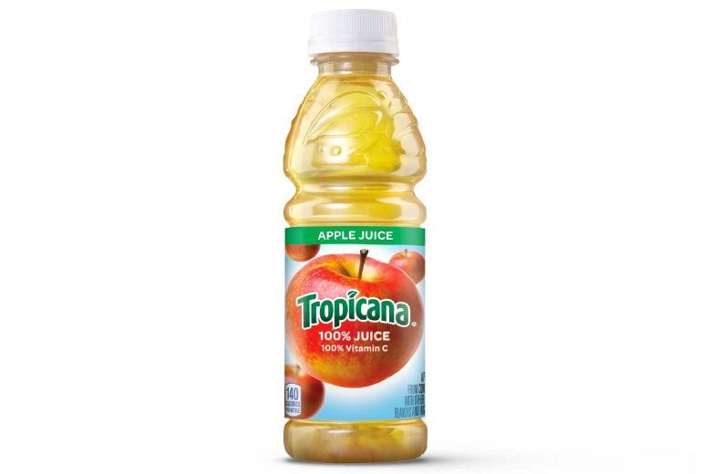 Tropicana apple juice.