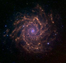 Spitzer Space Telescope view of M74