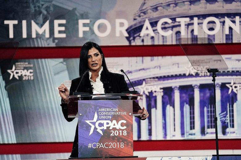 NRA spokeswoman Dana Loesch speaks during CPAC 2018 on Thursday in National Harbor, Maryland.