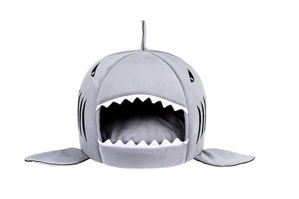 Likedog Shark Pet House Washable Cave Bed