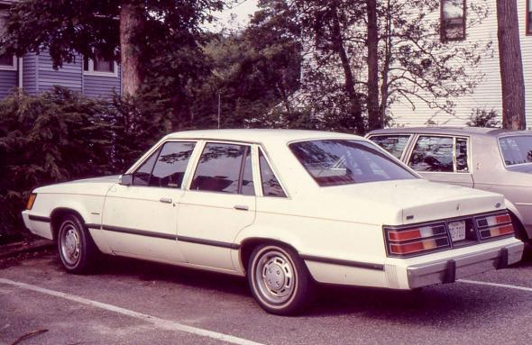 An 1983 Ford LTD bought from a car rental company's used car lot