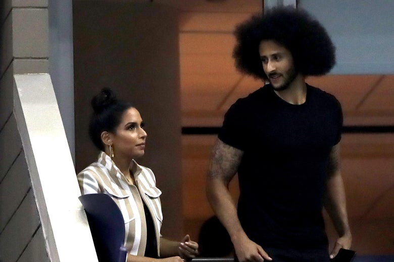Colin Kaepernick attending the 2018 U.S. Open.