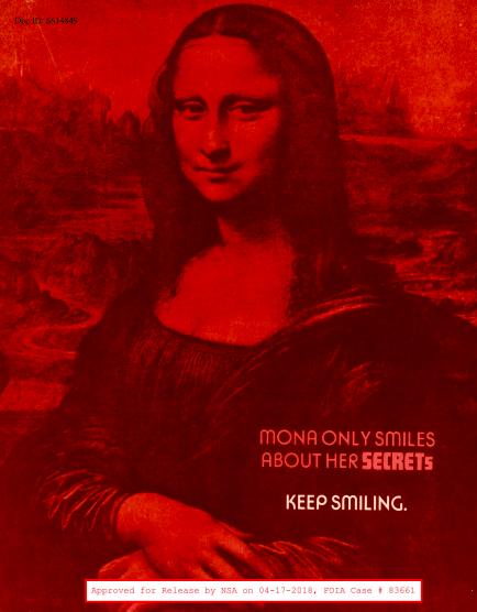 Mona Lisa NSA poster