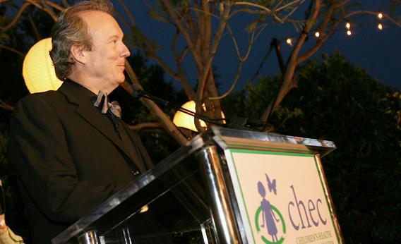 Architect William McDonough accepts his award inside at the Children's Health Environmental Coalition's (CHEC) annual benefit held at a private residence on June 1, 2006 in Pacific Palisades, California.