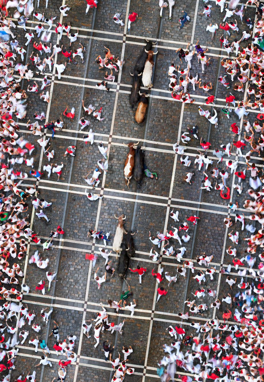 Running With the Bulls (2x12 min.), Pamplona, Spain.