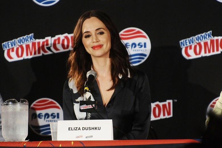 Eliza Dushku attends New York Comic-Con in 2015.