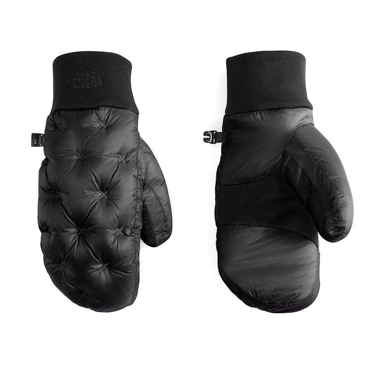 Puffy black mittens