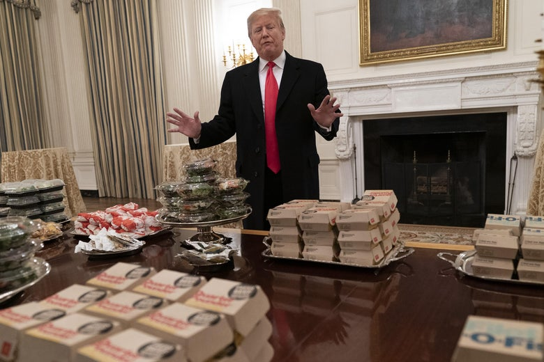 Trump and the burgers.