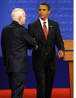 John McCain and Barack Obama. Click image to expand.