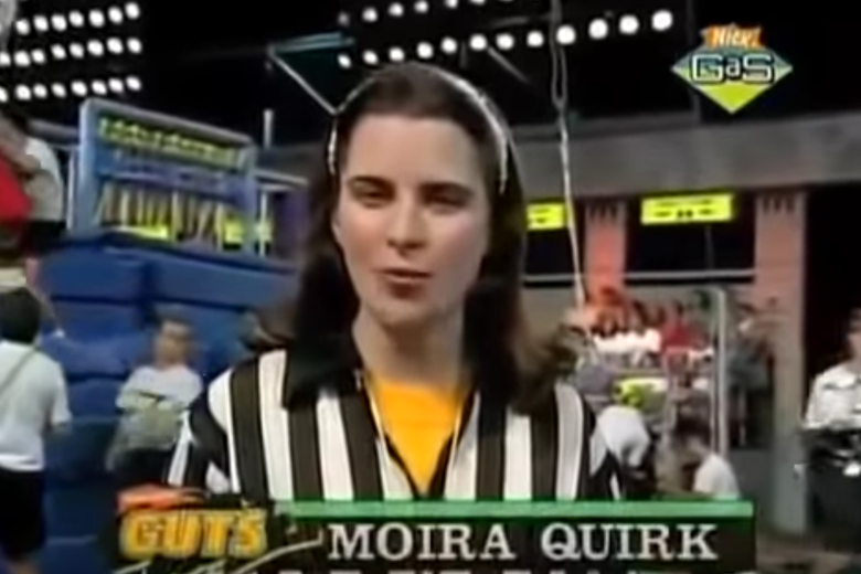 Moira Quirk, the referee from Nickelodeon 'Guts'.