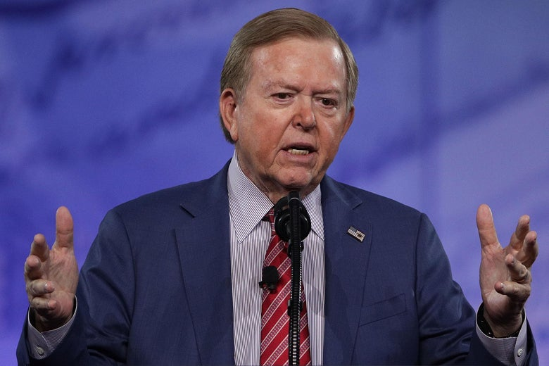 Lou Dobbs speaks during the Conservative Political Action Conference at the Gaylord National Resort and Convention Center February 24, 2017 in National Harbor, Maryland.