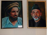 Matching potraits: Massoud and Karzai