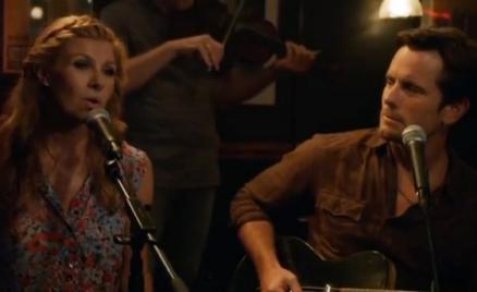 Still from Nashville Season 1, Episode 2 with Connie Britton and Charles Esten.