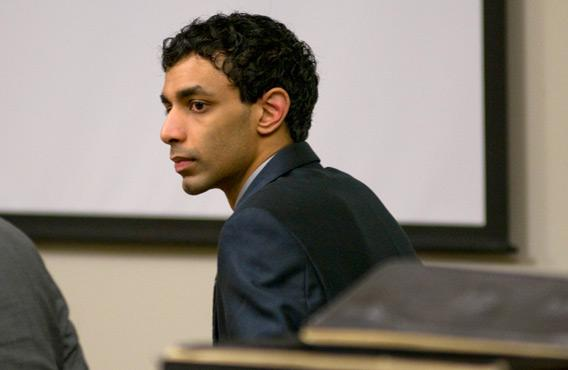 Dharun Ravi, a Rutgers University student charged with bias intimidation against his gay roommate.