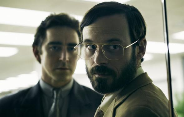 Joe MacMillan (Lee Pace) and Gordon Clark (Scoot McNairy) in Halt and Catch Fire.