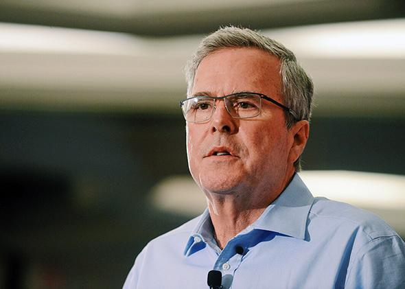 Jeb Bush speaks at the First in the Nation Republican Leadership Summit on April 17, 2015, in Nashua, New Hampshire.