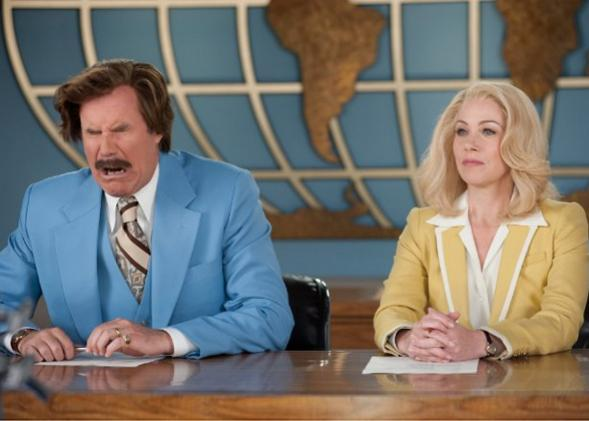 Christina Applegate and Will Ferrell in Anchorman 2: The Legend Continues (2013)