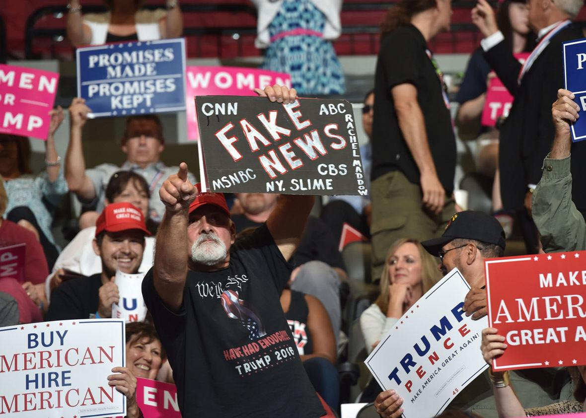 Supporters of US President Donald Trump