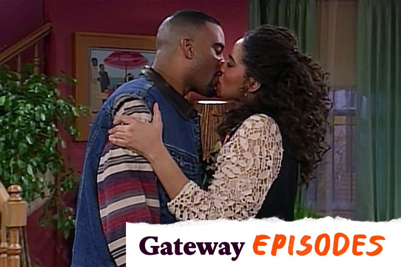John Henton and Kim Coles in Living Single, with Gateway Episodes logo