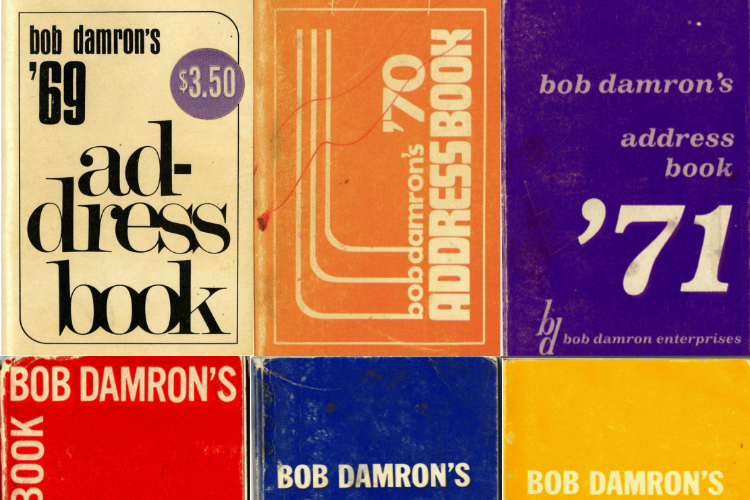 Various covers from the Dameron's Address book series.