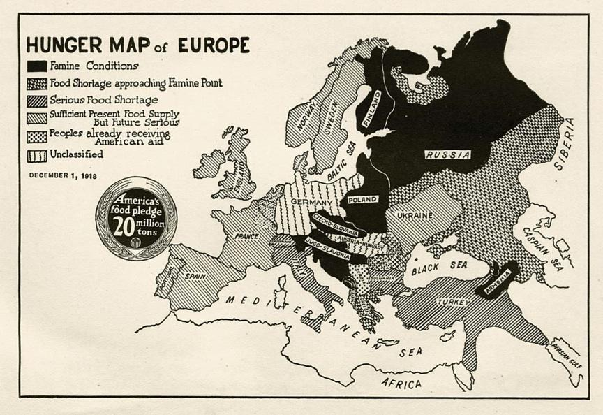 History of famine in Europe after WWI: A \
