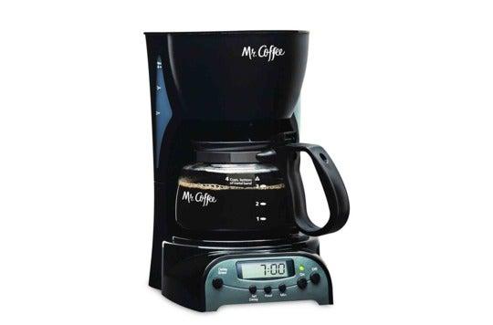 Mr. Coffee 4-cup coffeemaker.