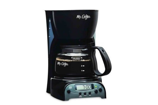 Mr. Coffee 4-cup coffeemaker.