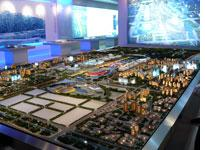 A model of the Olympic grounds. Click image to expand.