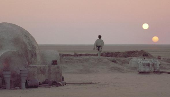 Tatooine double sunset